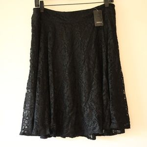 NWTTorrid Black Floral Lace Skirt Size 12